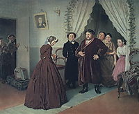 Arrival of a New Governess in a Merchant House, 1866, perov