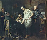 Arriving at an the inquiry, 1857, perov