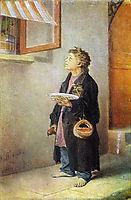 Boy-craftsman , 1865, perov