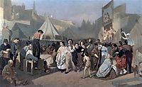 Celebration in the outskirts of Paris (in Montmartre) , 1864, perov