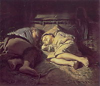 Children Sleeping, 1870, perov
