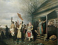 Easter Procession in a Village, 1861, perov