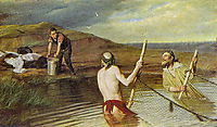 Fishers (priest, deacon and seminarian) , 1879, perov
