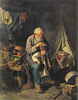 Grandfather and grandson , 1871, perov
