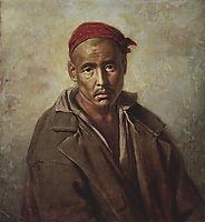 Head of a Kirgiz-convict , 1873, perov