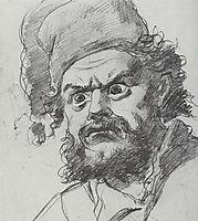 The head of Pugachev. Sketch, perov