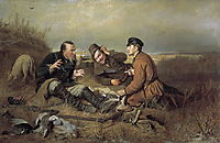 Hunters at rest , 1871, perov