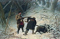 Hunting for wild boar , perov
