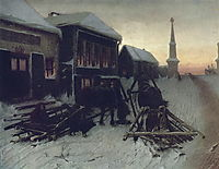 Last Tavern at Town Gate, 1868, perov