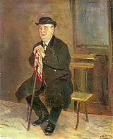 The old man on the bench , c.1880, perov