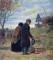 Old Parents Visiting the Grave of Their Son, 1874, perov
