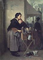 Organ Grinder in Paris, 1864, perov