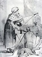 Paris sharmanschitsa. Sketch, 1863, perov