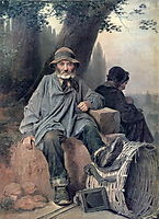 Parisian rag-picker , 1864, perov
