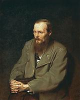 Portrait of the Author Feodor Dostoyevsky, 1872, perov