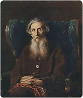 Portrait of the Author Vladimir Dahl, 1872, perov