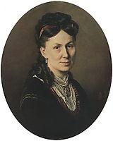 Portrait Avdotya Kuznetsova , 1870, perov