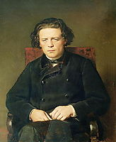 Portrait of the Composer Anton Rubinstein, 1870, perov