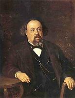 Portrait of A.F. Pysems-kogo , 1869, perov