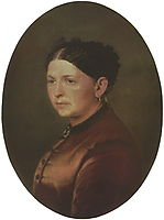 Portrait of Feodosya Resanova, 1868, perov