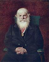 Portrait of the Historian Mikhail Pogodin, 1872, perov