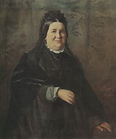 Portrait of A.I. Kridener, born. Ivanova, mother of the artist, 1876, perov