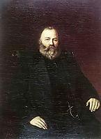 Portrait of a merchant S.T. Kuznetsov , 1873, perov