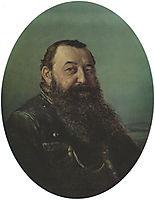 Portrait of N.F. Rezanov , 1868, perov