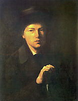 Portrait of Nikolai Kridener, the Artist s Brother, 1856, perov