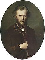 Portrait of Nikolai Lanin, 1869, perov