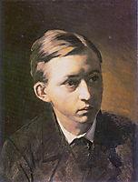 Portrait of the Painter Nikolai Kasatkin, 1876, perov