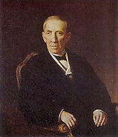Portrait of Peter Ivanovich Nikolayev, chairman of the Vladimir district council , 1876, perov