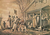 Procession on Easter , 1862, perov