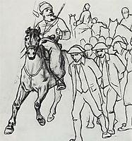 Pugachev escort convoys of prisoners , 1875, perov