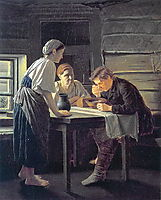 Receiving Wanderer , 1874, perov