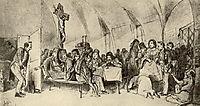 Repast , 1865, perov