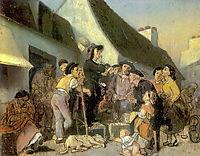 Seller singers. Sketch, 1863, perov
