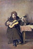 Solitary Guitarist, 1865, perov