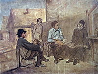 Students talk with the monk , 1871, perov