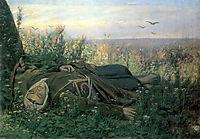 Wandering in a field , 1879, perov
