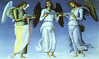 Angels (detail), 1470, perugino