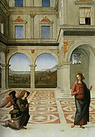 The Annunciation , 1497, perugino