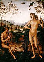 Apollo and Marsyas, 1495, perugino