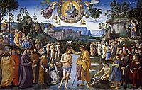 Baptism of Christ, 1483, perugino