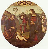 Birth of Christ, Tondo, perugino