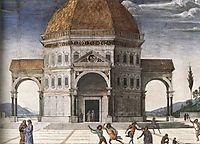 Christ Handing the Keys to St. Peter (detail 1), 1482, perugino