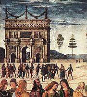 Christ Handing the Keys to St. Peter (detail 2), 1481, perugino