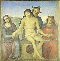 Christ in Pieta, 1497, perugino