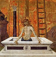Christ in the sarcophagus, 1473, perugino
