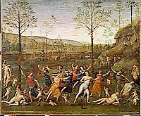 Combat of Love and Chastity, 1505, perugino